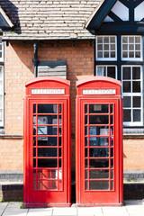 telephone booths, Stratford-upon-Avon, Warwickshire, England