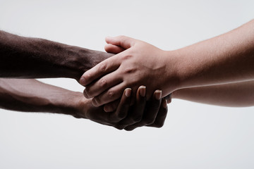 African American man shaking hands