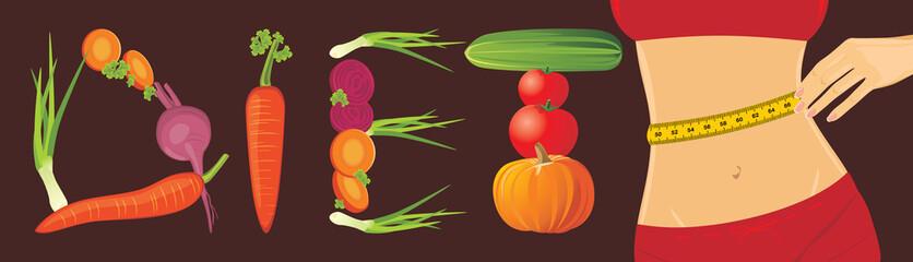 Vegetarian diet. Banner