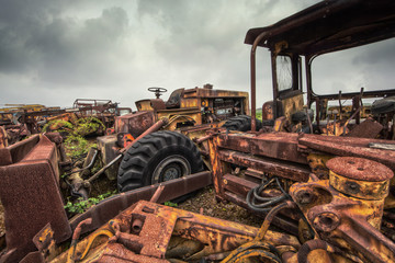 scrap construction vehicles