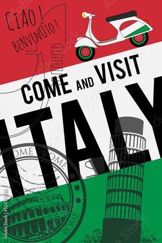 vector italy poster background