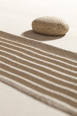 ayurveda spirituality with zen sand