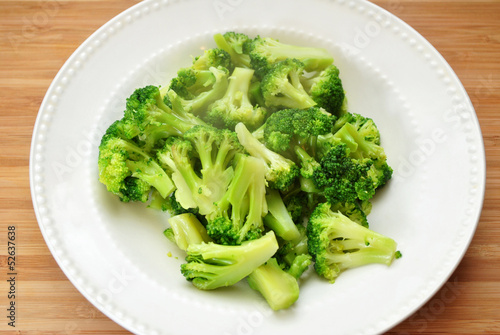 Bowl of Steamy Cup Broccoli