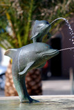 Dolphin fountain in Mali Losinj