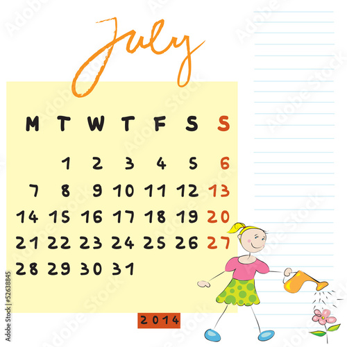 小学英语日历制作