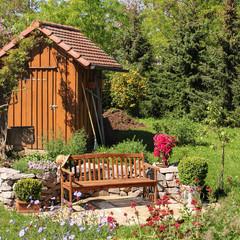 Seat in the garden, Sitzplatz im Garten