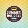 Summer: Geometric retro background