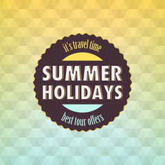 Summer: Geometric retro background