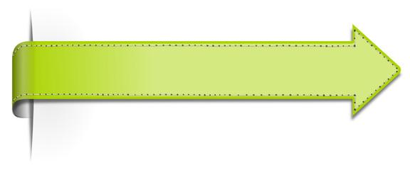 Schild Pfeil grün lang