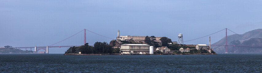 San Francisco City Bay and Alcatraz Island Califormia USA