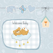 baby shower card with sleepy teddy bear