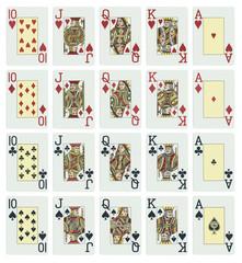 Poker, Kartenset