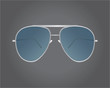 Retro silver sunglasses