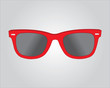 Retro red sunglasses