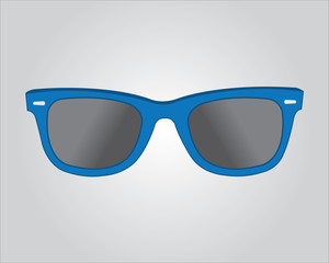 Retro blue sunglasses