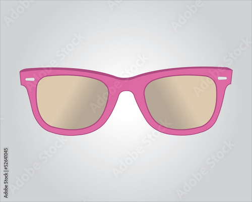 Retro pink sunglasses