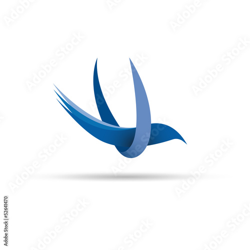 Vector 	Logo birds in flight
