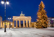 canvas print picture - Brandenburger Tor im Advent