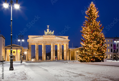 canvas print picture Brandenburger Tor im Advent