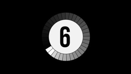 Compte à rebours 10-0 noir / blanc