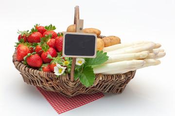 Erdbeer-Spargel-Korb