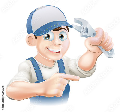 Mechanic or Plumber Illustration