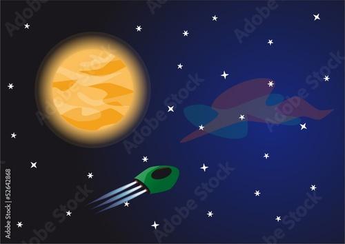 Foto op Canvas space adventure | vector