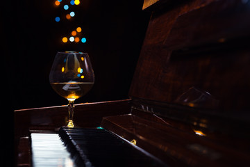 brandy on a old piano