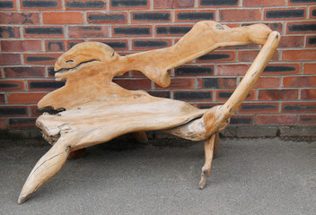 A Really Unusual Craft Design Wooden Chair.