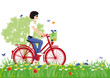 Radfahren in der Natur