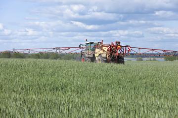 Traktor im Getreidefeld