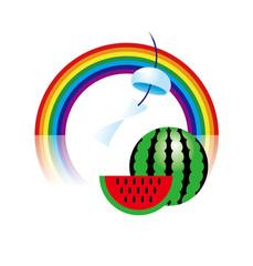 虹とスイカ