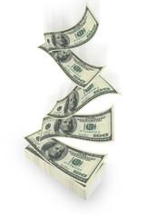 flying dollar bills