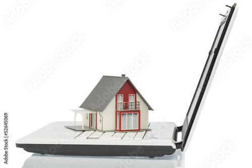 house on computer keyboard