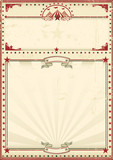 Circus poster red vintage