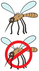 mosquito stop sign icon