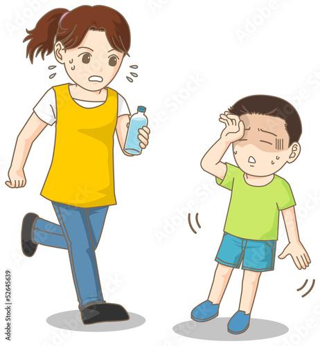 母子と熱中症