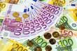 many euro banknotes