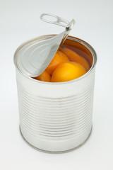 melocotón en lata