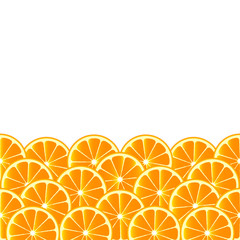 Fruity background with orange slices
