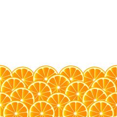 Fruity background with orange slices