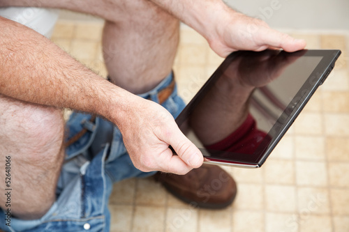 Using Tablet PC on the Toilet