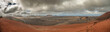 Volcanic landscape and the sea, panoramic