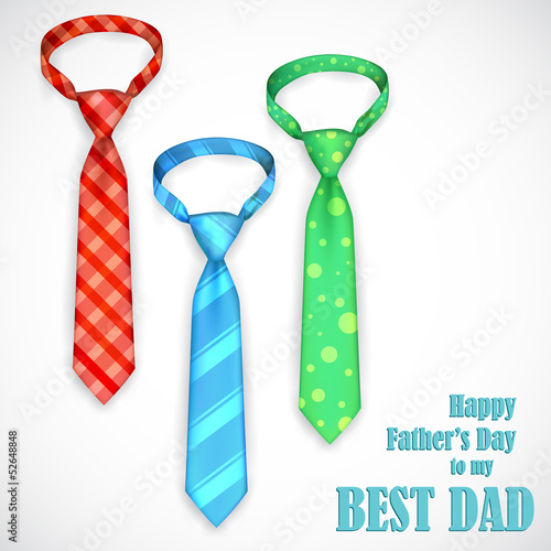 Tie in Father's Day Card