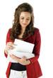 woman managing paperwork