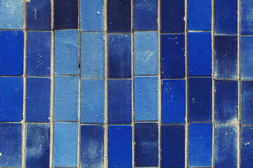blue rectangular tile texture with little cracks