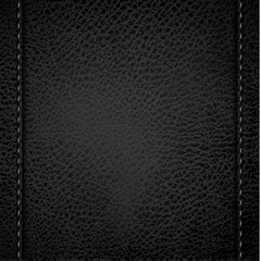 Leather background with vertical stitches - eps10