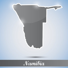 shiny icon in form of Namibia
