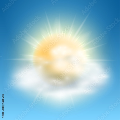 Cloudy and sunny weather icon - eps10