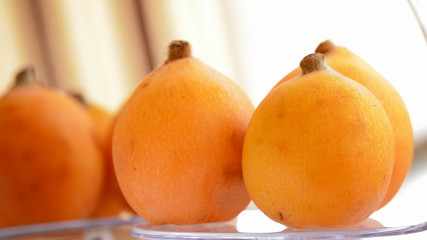 Loquat fruit gyrating, loop